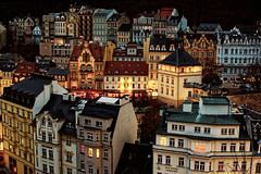 Karlovy Vary (Stanislav Zakurdaev) Tags: citypanorama city tonight czechrepublic europe karlovyvary stanislavzakurdaev balneology historical holiday hotels medicalsources recreation relaxation sight travel trip turizm photostascom