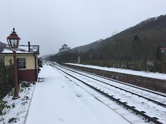 Snow covers the station 18Mar18
