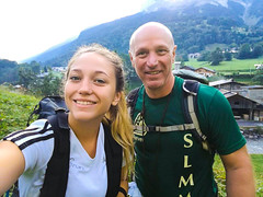 (dyelrahc) Tags: father daughter gr5 adventure mountains walking alps