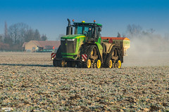 Regenerative fertilization of winter oilseed rape | JOHN DEERE // AMAZONE (martin_king.photo) Tags: spring springwork2018 regenerative fertilization regenerativefertilization johndeere johndeere8200 jdrx johndeere9620rx amazone amazonezats4200 fertilizerspreader spreader oilseed rape springwork powerfull martin king photo agriculture machines strong agricultural great day czechrepublic sky fans work place big machinery yellow tschechischerepublik martinkingphoto welovefarming working modern landwirtschaft green red colorful colors blue mais maize corn photogoraphy photographer canon tractor tracs frozen frosty morning frost cold worker panning speed
