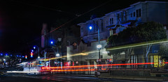 ocean avenue express ll (pbo31) Tags: bayarea california nikon d810 color black night dark march 2018 boury pbo31 lightstream motion traffic roadway sanfrancisco city urban muni motionblur oceanavenue sunnyside tram mtdavidsonmanor