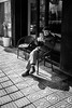 The old smoker (Go-tea 郭天) Tags: hangzhoushi zhejiangsheng chine cn linan hangzhou candid old man portrait grandpa cap smoke smoking smoker lighter sun sunny shadow wrinkles chairs sidewalk pavement street urban city outside outdoor people bw bnw black white blackwhite blackandwhite monochrome naturallight natural light asia asian china chinese canon eos 100d 24mm prime lighting alone lonely cigaret