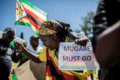 Zimbabwe tells Robert Mugabe to go! Solidarity March, 18 Nov 2017 (Zimbabwean-eyes) Tags: zimbabwe people happy demonstration coup mugabe flag