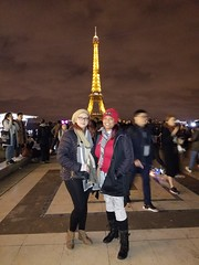 Bithiah and Amber in Paris (bnbrown12) Tags: paris the eiffel tower new year winter vacation history sightseeing friends traveling