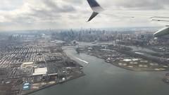 Flying - Manhattan Skyline New York City Central Park Midtown (robertfekete) Tags: 432 park empire state triboro bridge randall freedom tower eastriver harlemriver