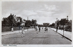 Goes_Stationsweg richting station - Rembrandt - verz 1934 (Flu59) Tags: goes stationsweg rembrandt station
