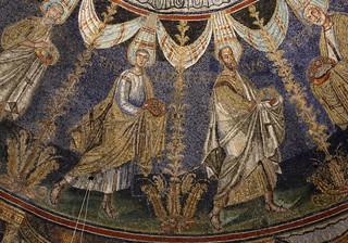 Mosaico Giovanni Battista battezza Gesù nelle acque del fiume Giordano - Battistero Neoniano (V secolo) - Ravenna