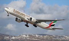 Emirates (avican1.) Tags: emirates boeing 777 a6eph dubai united arab takeoff glasgow gla egpf snow hills blue skies avican1 stephen smyth canon eos 7d mk ii scotland scottish uk