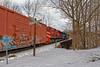 Shoving back into Hoosick Junction at the crossing. (HDR's Photos) Tags: railfanning freighttrain vermontrailsystem greenmountainrailroad trains hoosickfallsny emdsd60 emdsd70m2