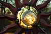 framed sunset (Jillian Kern) Tags: sunset frame bokeh sun metal dof silhouette glow light glass cracked crackle