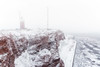 Helgoland (Thomas Haeusler) Tags: helgoland winter schnee leuchtturm felsen rot