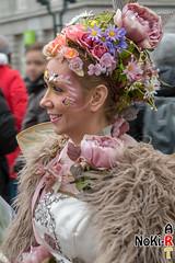 Blumen-Fee (Norbert Kiel) Tags: rosa weis braun frau blumen bunt hamburg maskenzauber masken zauber venedig italien deutschland alster verkleidung kostüme nokiart