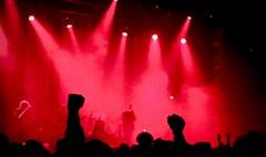 We love rock 'n' roll (@WineAlchemy1) Tags: jesusandmarychain jamc leeds silhouette weloverocknroll wehaterocknroll music psychocandytour red crowd bands o2academy gigs