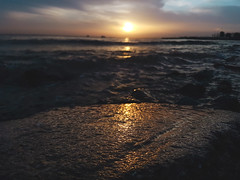 Sunset (Burak Kebapci) Tags: sun sunset waves sea seaside rock