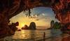 Beach cave sunset (Stan Smucker) Tags: sunset cave krabi beach travel paradise