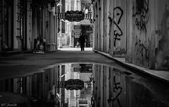 Mirror (WT_fan06) Tags: bw blackandwhite monochrome black white nikon d3400 dslr bucharest bucuresti city romania atmosphere contrast apperture neutral reflection art artsy aesthetic photography graffiti decay perspective gray tones tone symmetry