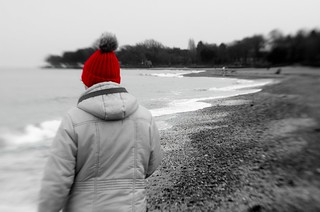 The red bobble hat