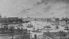 Classical Stockholm view (1890s) (frankmh) Tags: drawing landscape seascape oldart stockholm swede