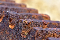 Rusty Gear (thatSandygirl) Tags: gear rust macro gears texture brown rough lines machine mechanical equipment rusty old