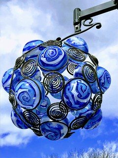 Blue Glass Masterpiece