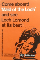 "1966 CSP brochure for ps ""Maid of the Loch"" sailings on Loch Lomond. (calderwoodroy) Tags: shipping ephemera lochlomondsteamer tarbet balmaha caledoniansteampacket caledoniansteampacketcompanyltd inversnaid rowardennan timetable brochure balloch excursionsteamer paddlesteamer pleasuresailings maidoftheloch csp sailinglist lochlomond scotland"