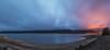 Cambio de luces (Victor Aparicio Saez) Tags: fotoconamparohervella naturaleza nubes natural noche nikond5200 agua alairelibre azul horaazul largaexposición luznatural landscape embalse de la pinilla