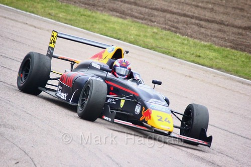 Dennis Hauger in British F4 pre-season testing 2018
