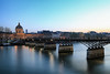 Le pont des Arts (erichudson78) Tags: france iledefrance pontdesarts laseine river fleuve longexposure poselongue reflection reflets urbanreflection eau water crépuscule dusk twilight canoneos6d canonef24105mmf4lisusm grandangle wideangle institutdefrance pont bridge paris town ville ciel sky architecture outside extérieur