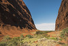 Opening (syf22) Tags: australia yulara outback katatjuta walpagorge downunder aussie oz theolgas valleyofthewinds rock formation sandstone gap cleft clough canyon arroyo clove glen fissurevpass ravive steep rocky walls open plain sunny hot aboriginal native opening