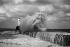 BWP_5888 (b_jw40) Tags: aberdeen beach harbour breakwater wave sea storm beast lighthouse water aberdeenshire