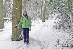 Our Winter Wonderland (Mary&Neil) Tags: elements snow walking hiking mary woman