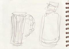 und alles auf Links (raumoberbayern) Tags: sketchbook skizzenbuch sketch robbbilder drawing zeichnung stilleben naturemorte livingroom wohnzimmer graphite grafit dina5 schrank flaschen bottles boutteile carnetdecroquis