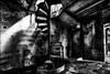 On monte? / We go upstairs? (vedebe) Tags: escaliers ville street rue city urbain urbex urban lumière decay abandonné usinedésaffectée noiretblanc netb nb bw monochrome architecture