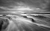 Incoming (ianbrodie1) Tags: northeast coastline coastal coast water ocean sea seascape stmarys lighthouse waves rocks mono blackwhite cloud cloudporn leefilters longexposure