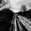 Pas de trafic au petit matin... (woltarise) Tags: montréal plateau 6h30am ferrée voie rails pont neige froid hiver