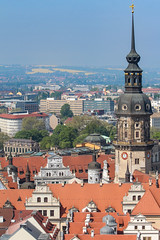 Dresden from Frauenkirche (Oleg S .) Tags: germany architecture castle roof dresden