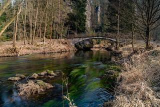 Brücke über die Kamnitz in der Nähe der Grundmühle