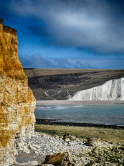 Sussex - Seven Sisters and the Birling Gap (muffinn) Tags: cliffs whitecliffs white birlinggap sussex blueskies