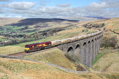 66164 Arten Gill 11/4/14 (Ram 69) Tags: 66164 artengillviaduct dbs dbschenker 4m00 settle carlisle railway sc settletocarlisleline