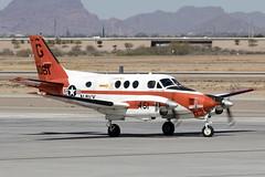 161061_BeechcraftT-44C_UnitedStatesNavy_AZA_Img01 (Tony Osborne - Rotorfocus) Tags: beechcraft king air model h90 t44 t44c pegasus united states navy phoenix mesa gateway airport aza 2018