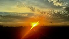 Sunrise in West Texas (Diann Bayes) Tags: westtexas sanangelo texas sunrise sky blue sun nature