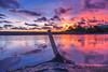 DSC03831 (Asrofu Life) Tags: sky water 18105mm 18mm 6300 cloud awan indah yogyakarta laguna samas bantul indonesia afternoon nice red bamboo sunset sea