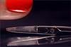 Under the lens. Scratches and stains. (Gudzwi) Tags: scratchesandstains scratches stains kratzer flecken scissors schere nagel nail nagellack nailpolish imperfection unvollkommenheit hmm macro makro macroorcloseup macromondays madeofmetal metall metal glanz polish gloss rot red schwarz black blackbackground schwarzerhintergrund spiegelung reflection reflektion broken auseinandergebrochen unterderlupe underthelens contrast kontrast