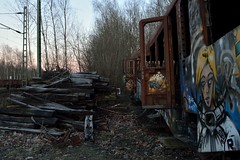 lost train #8 (liebeslakritze) Tags: lost train siding colours graffiti decay frost rust rost raureif cold zug abstellgleis bunt db vandalism