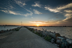 Stockton Beach Break wall Sunset (Paul Samaras Photography) Tags: stockton samaras shipwrecks sunset ships nsw australia bike breakwall
