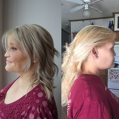 Before and After color by Sher and cut by Tish