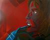 Rosso é Forte #3; Irène Jacob - Artist: Leon 47 ( Leon XLVII ) (leon 47) Tags: krzysztof kieślowski rosso red irène jacob leon xlvii 47 abstract portrait painting triangolismo triangulism enigma metafisica