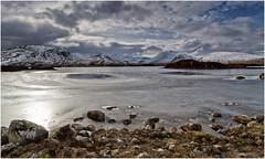 The Mirror in the Loch (Antony Ward) Tags: blackmount scotland frozen frozenloch snow winter ice