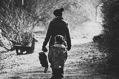 Go for a walk (Herr Nergal) Tags: fz1000 lumix panasonic black white bw sw schwarz weiss monochrome no colors people leute street saarland spazieren portrait bokeh hell dunkel menschen 7dwf light licht sonne