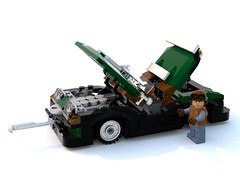 Cameron Eliot speeder open.lxf (Brick picker) Tags: agent special race speed vintage green figurinescale figure dom black lego bois wood captain daniel moc ideas afol car speeder voiture